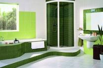 Zöld fürdőszoba