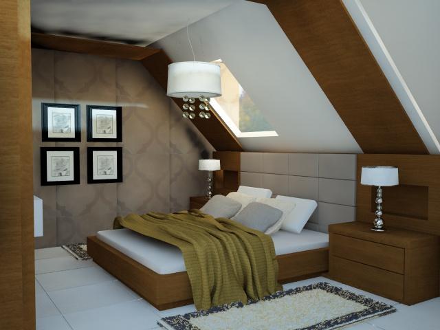 Hálószoba - Lakberendezés Pécs, 3D látványtervezés